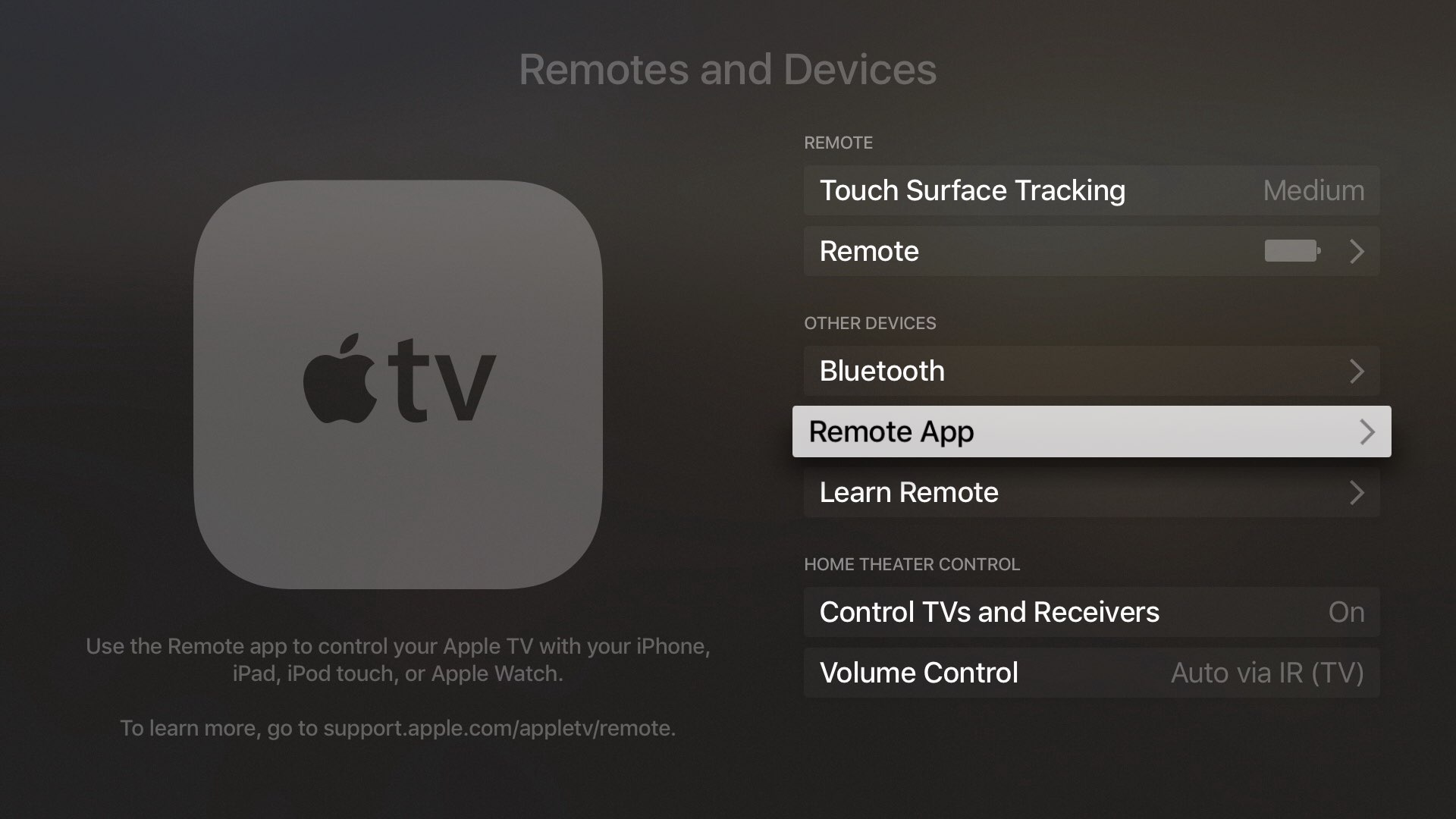 tvOS 10 Remote app pair Apple TV captura de pantalla 001