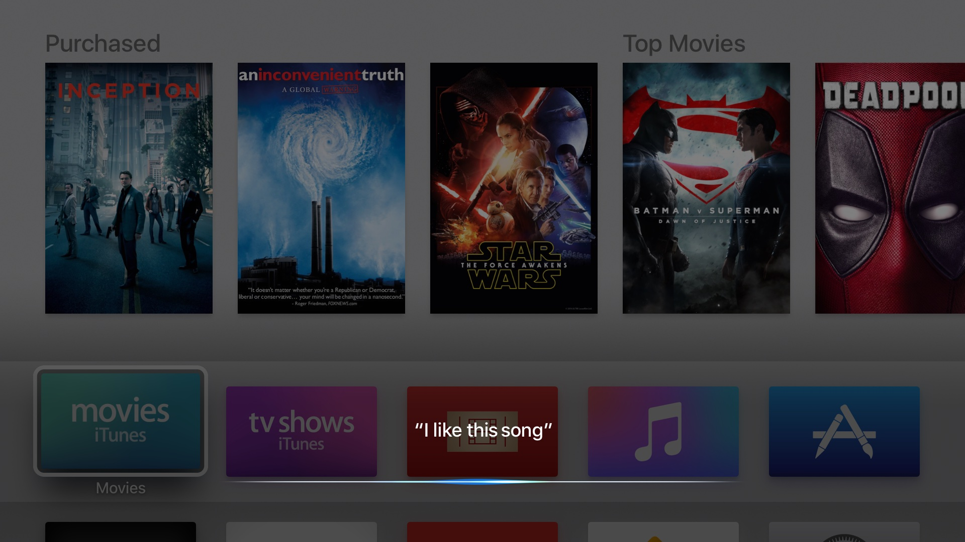 tvOS 10 beta 3 Siri like song Apple TV screenshot 0022