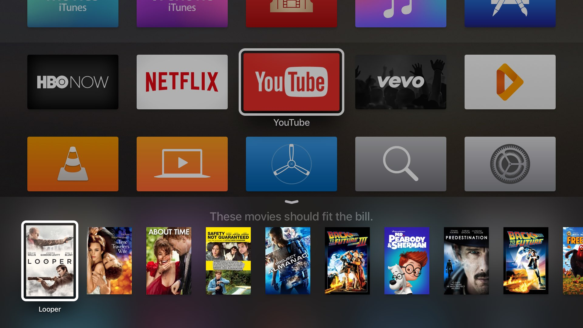tvOS Siri Movies search Apple TV captura de pantalla 002