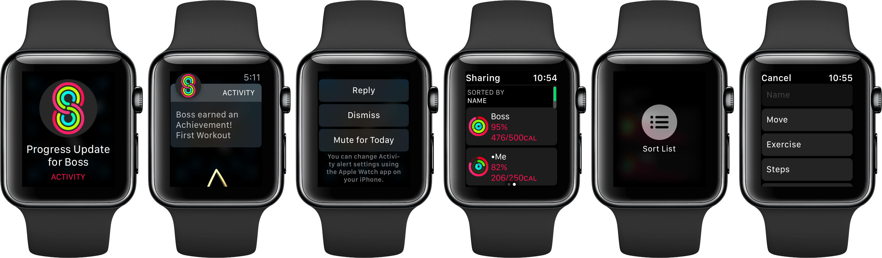 watchOS 3 Activity Sharing Apple Watch screenshot 002