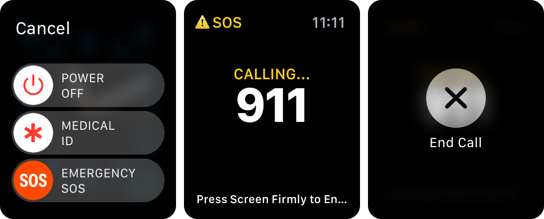 watchOS 3 Emergency SOS Apple Watch screenshot 001
