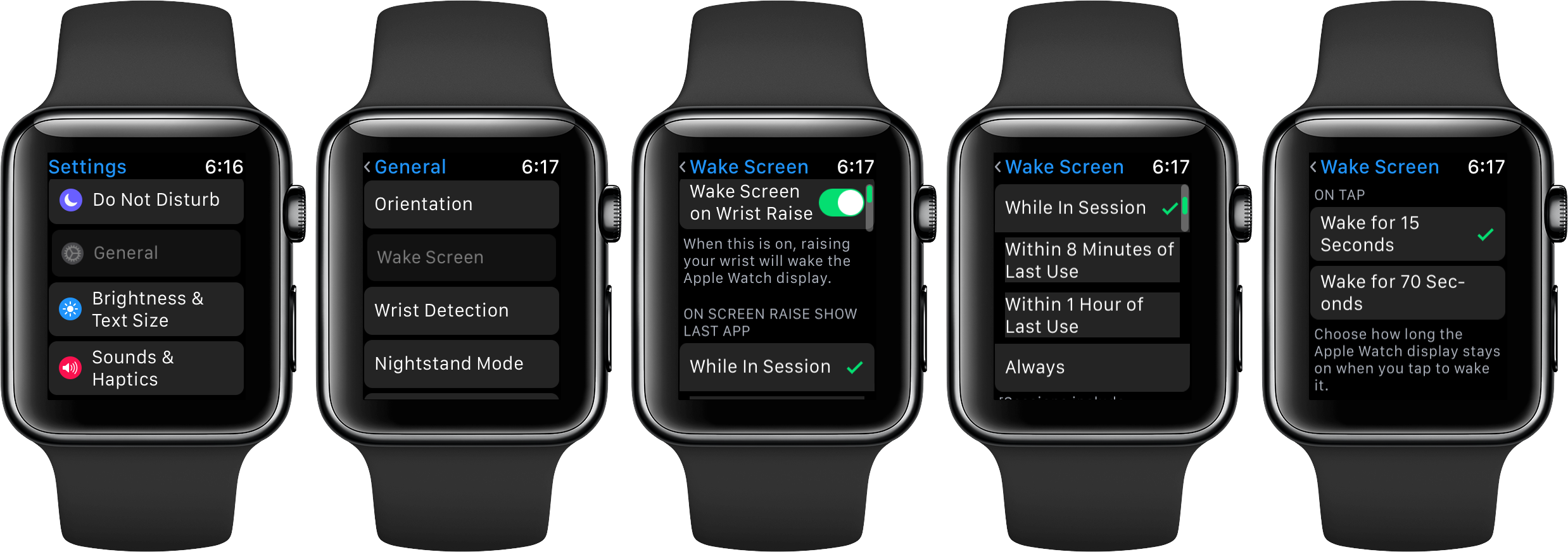 watchOS 3 Wake Screen space gray Apple Watch screenshot 001