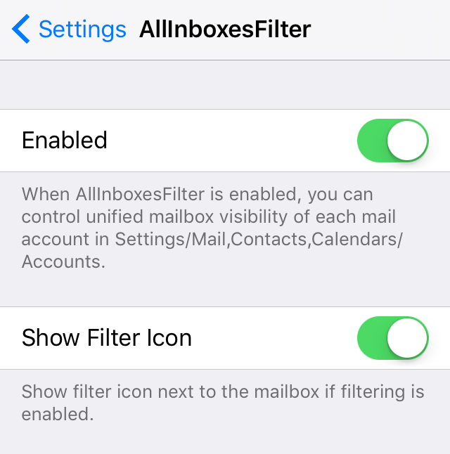 AllInboxesFilter Settings