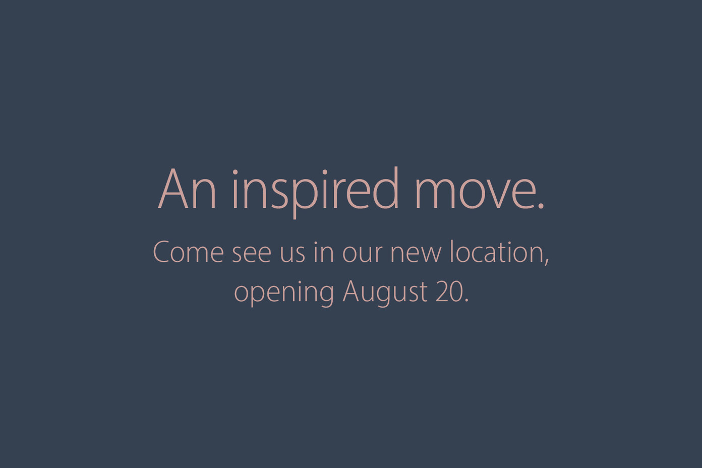 Apple Annapolis store teaser