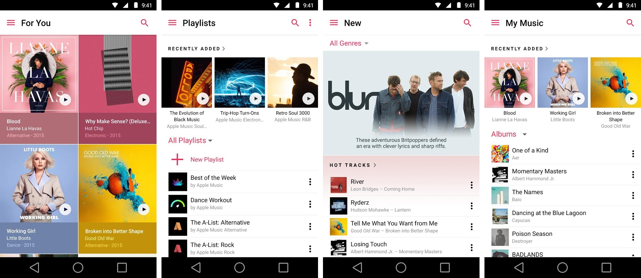 Captura de pantalla 001 de Apple Music 1.0 para Android