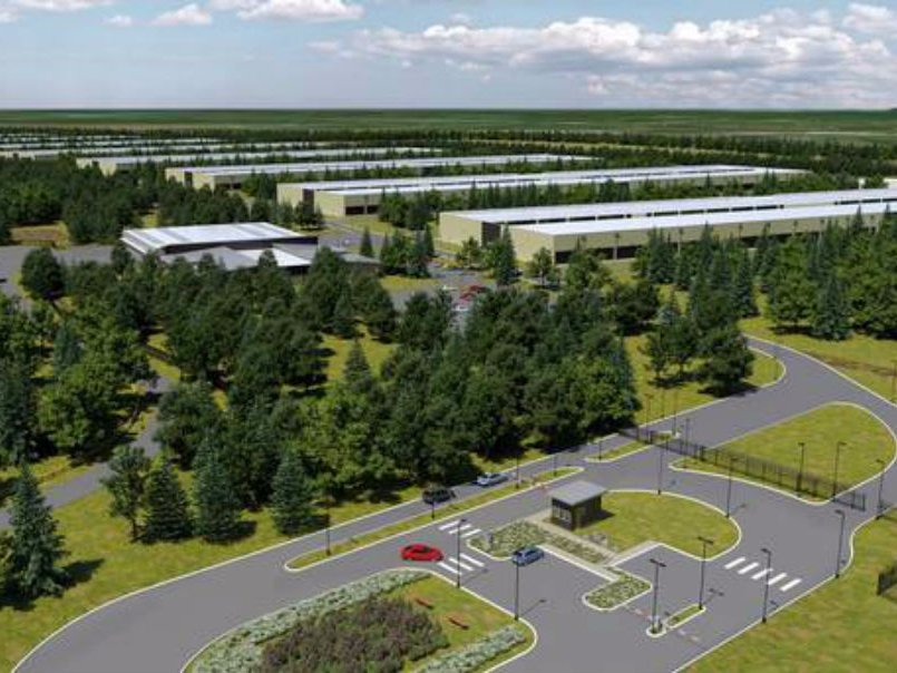 Apple data center Ireland rendering
