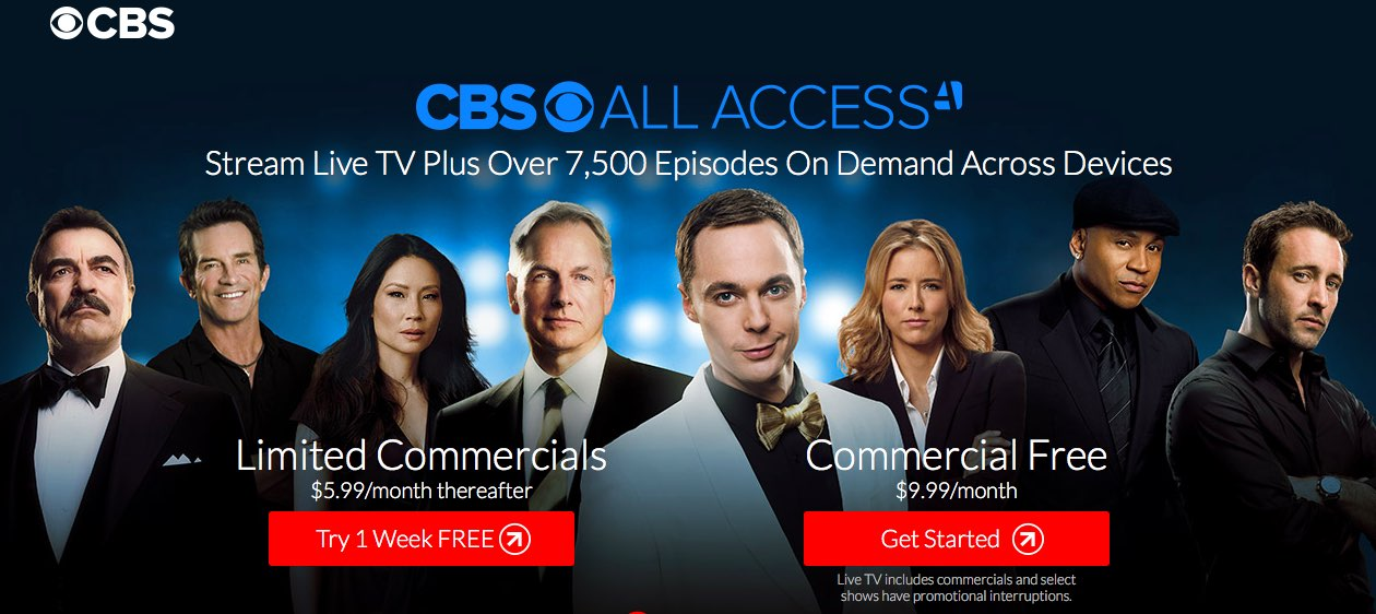 CBS All Access tiers web screenshot 001