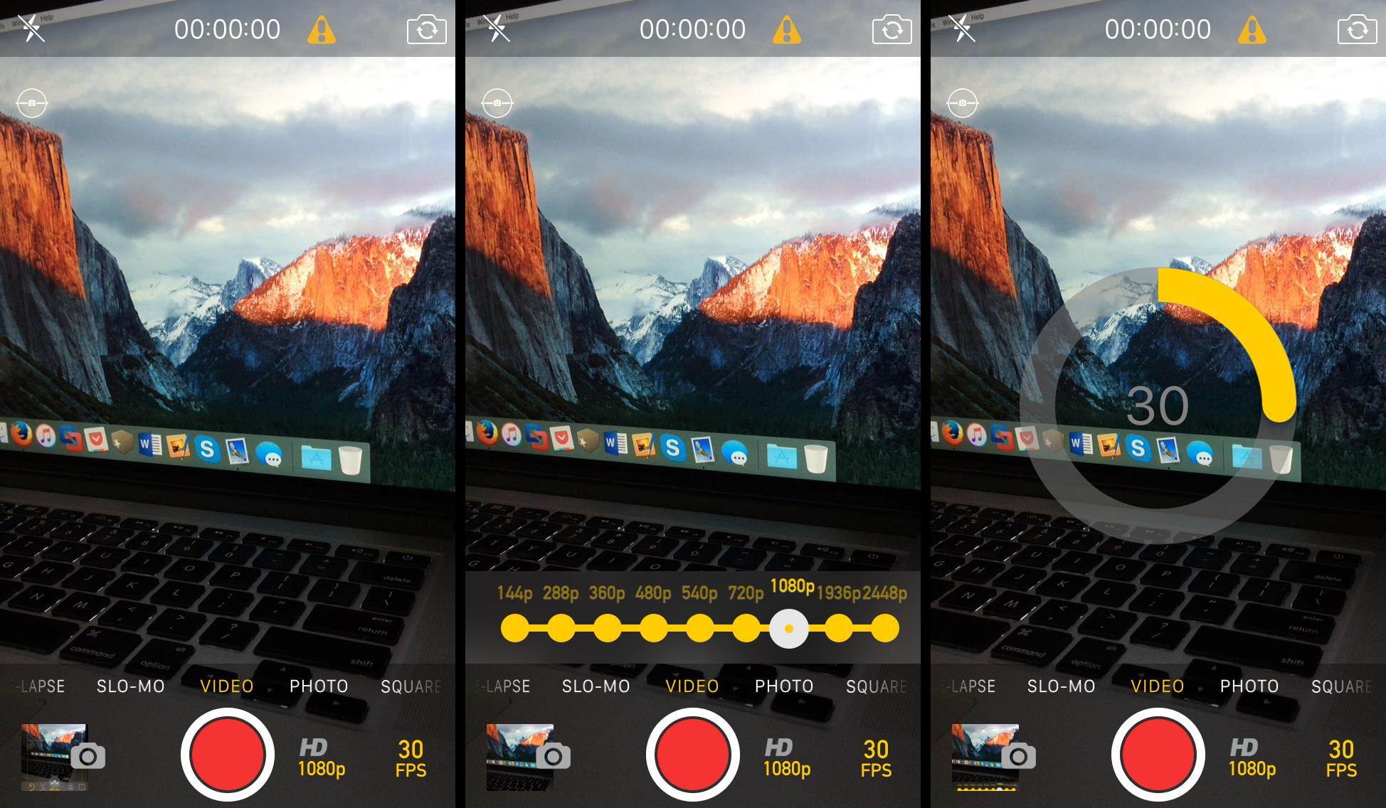 CameraTweak 4 iOS 9 video recording