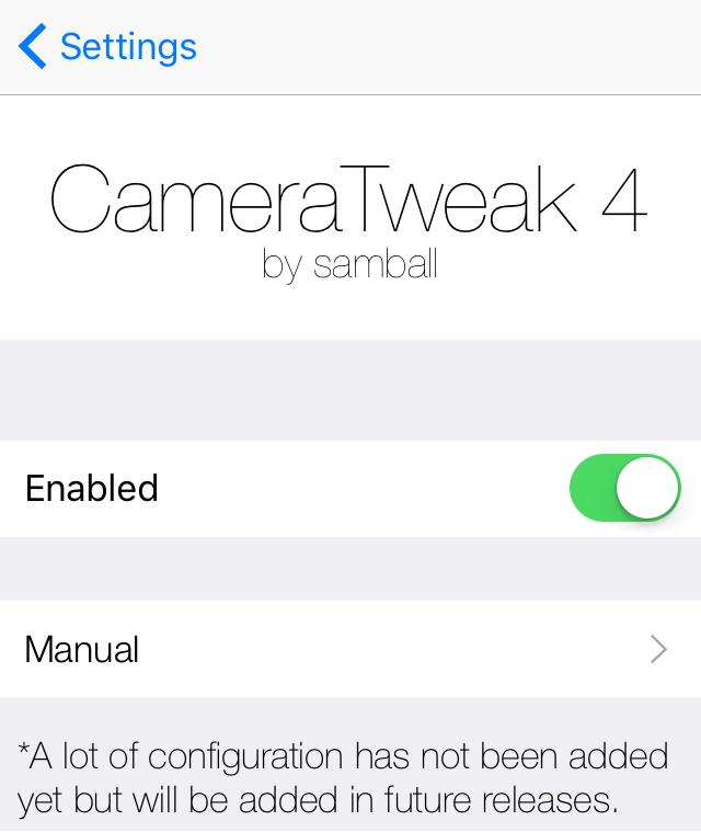 CameraTweak 4 preferences pane