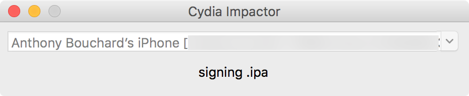 Cydia Impactor side loading process