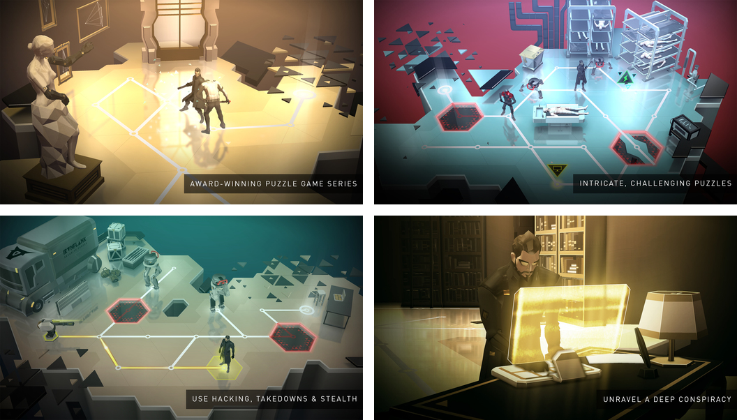 Deus Ex GO 1.0 for iOS iPad screenshot 006
