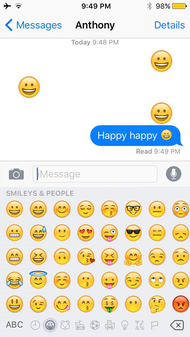 Emojiant Ryan Petrich iOS 10 Emojis Giant