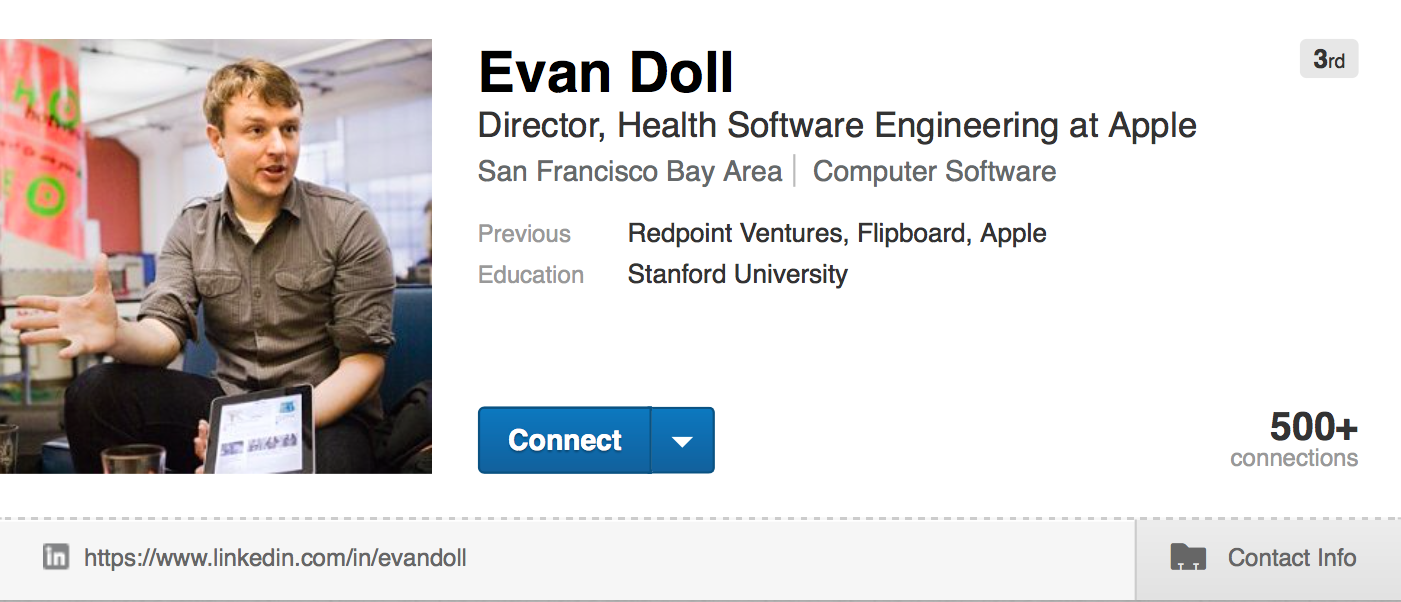 Evan Doll LinkedIn profile web screenshot 001