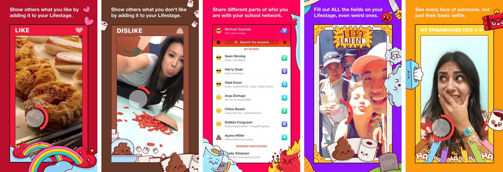 Facebook Lifestage 1.0 for iOS iPhone screenshot 001