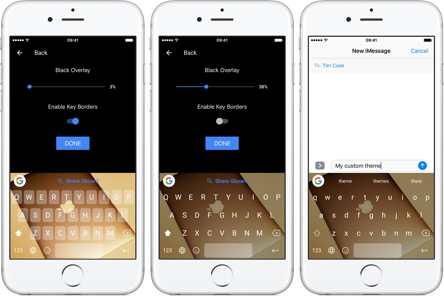 Gboard 1.1 for iOS Custom Theme silveriPhone screenshot 001