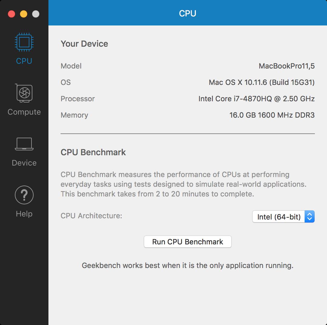Geekbench UI 1