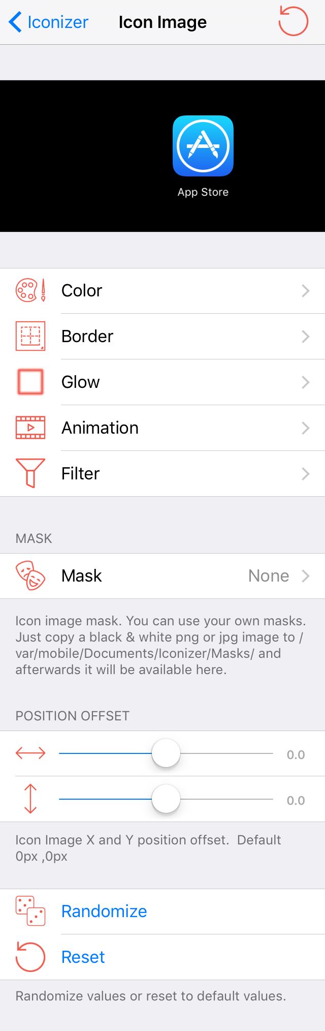 Iconizer Icon Image Preferences 2