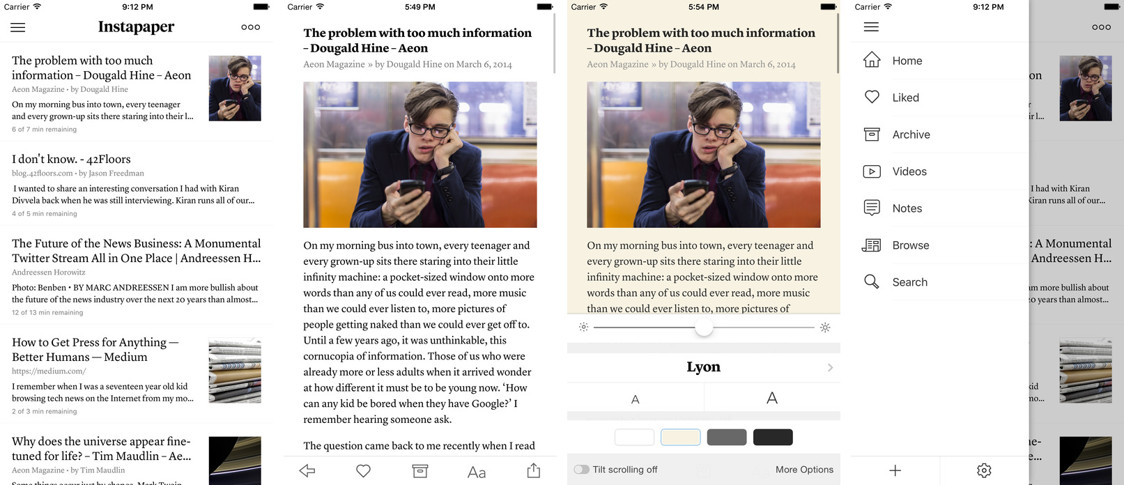 Instapaper 7.1.2 for iOS iPhone screenshot 001