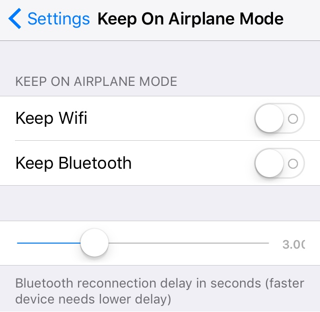 Keep On Airplane Mode Preferences Pane