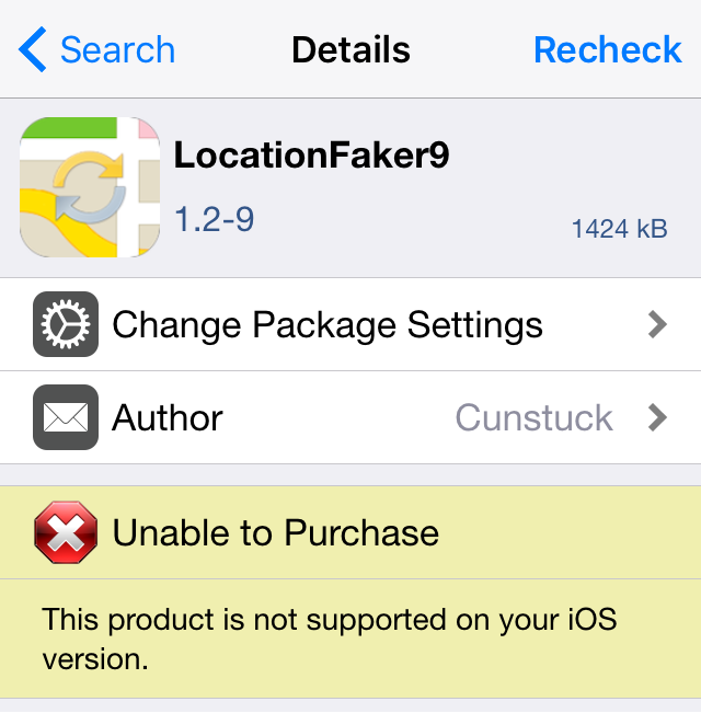 LocationFaker9 not supported
