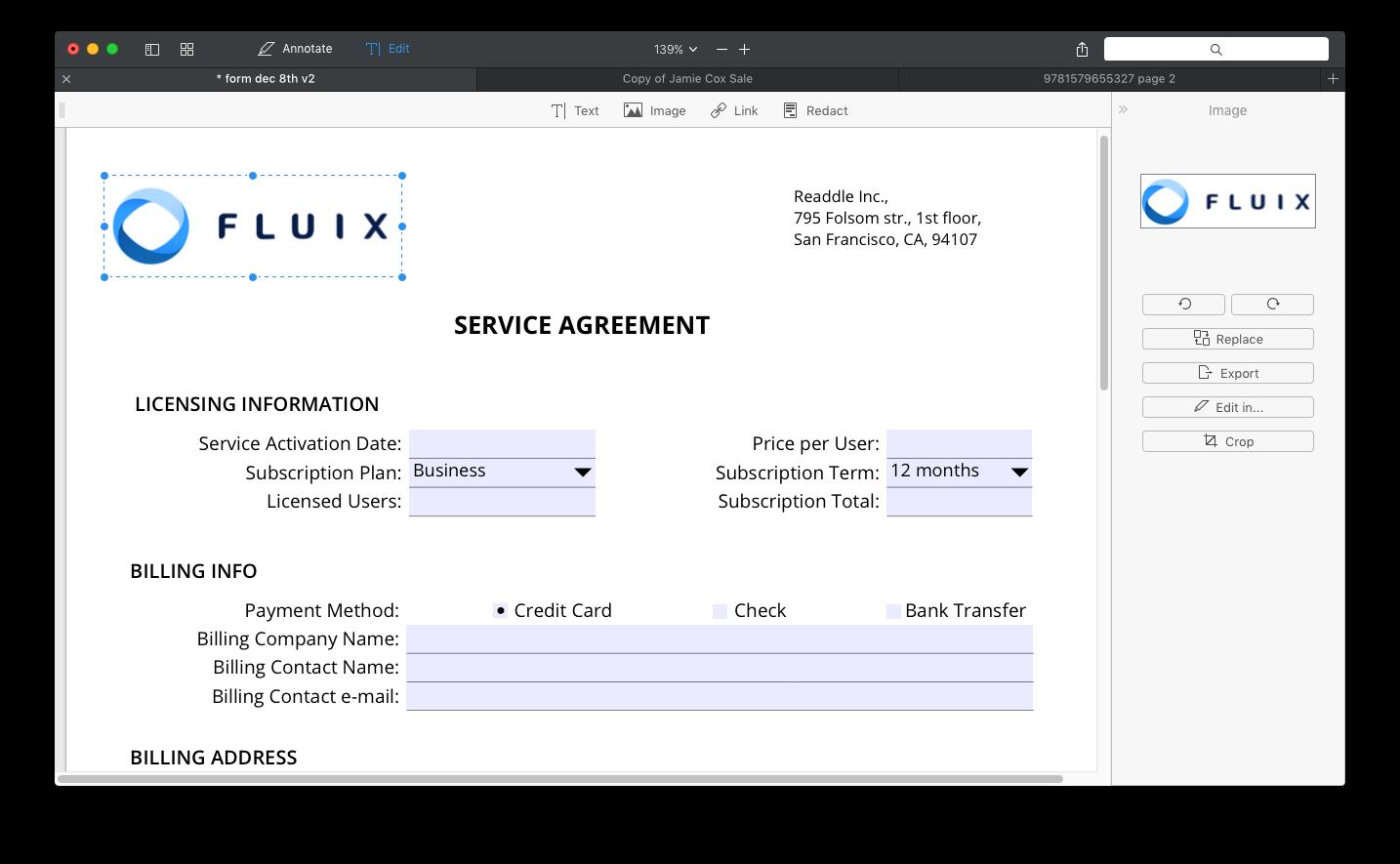 PDF Expert 2 for Mac edit images 001