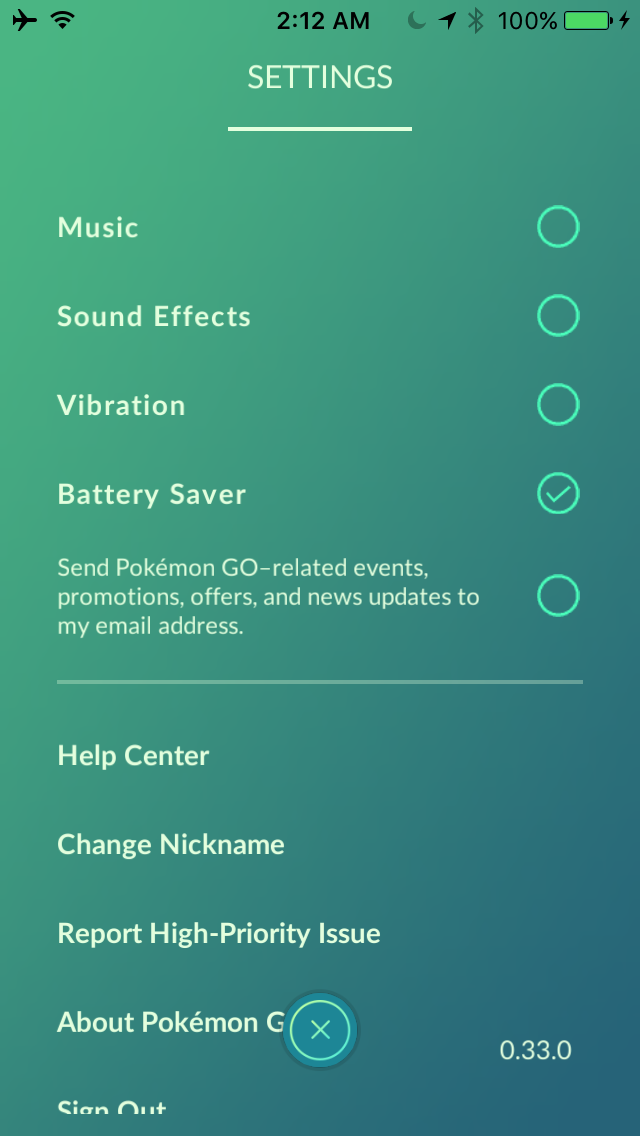 Pokemon GO power saver mode