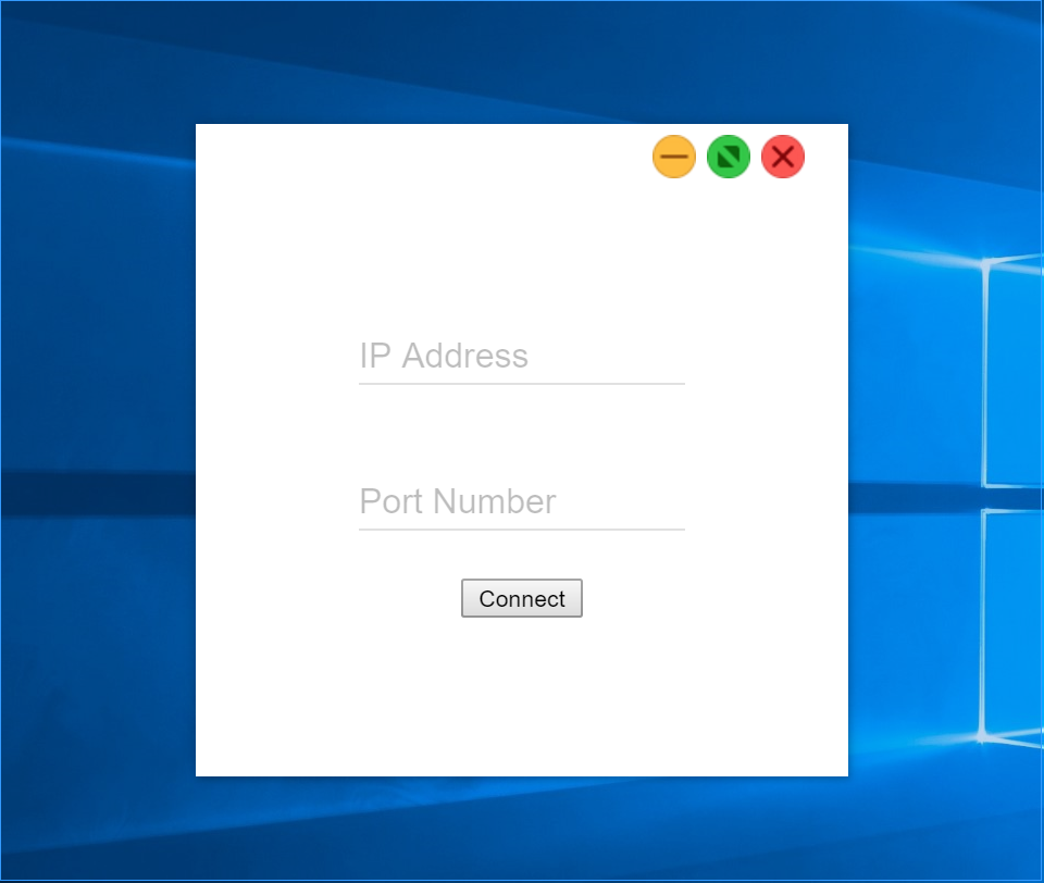 Remote Messages Client Login