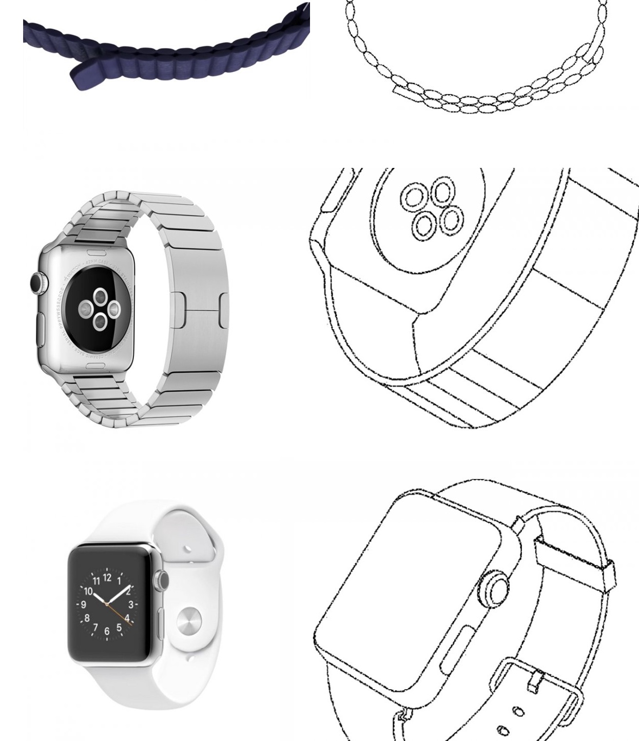 Samsung Wearable Device patent filing Apple Watch 005