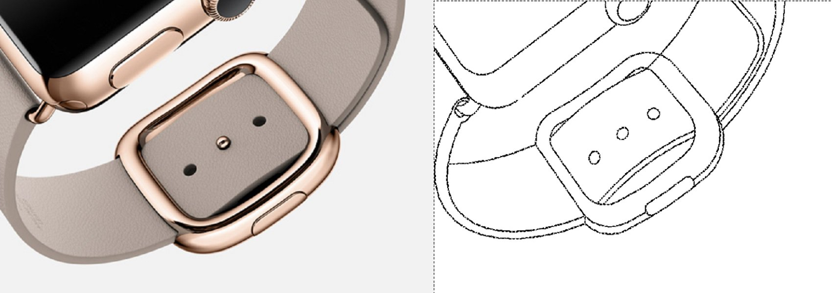 Samsung Wearable Device patent filing Apple Watch Buckle strap 001