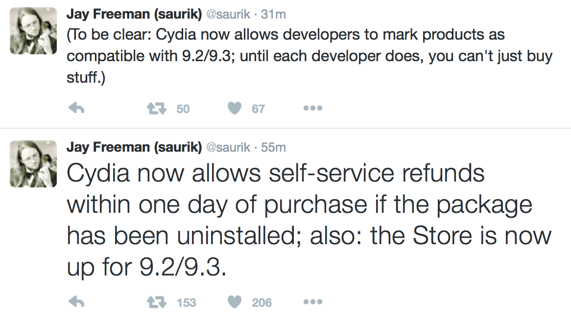 Saurik Self Service Refunds