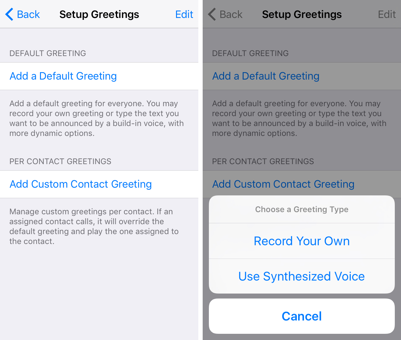 Answeringmachine the amazing voicemail experience ios never had setup greetings answeringmachine m4hsunfo