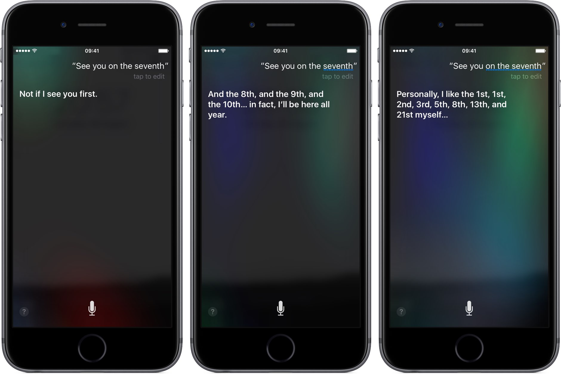 Siri iPhone 7 event responses space gray iPhone screenshot 001