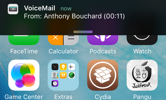 Super VoiceMail Banner Notification