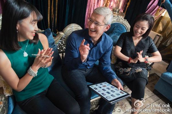 Tim Cook China weibo