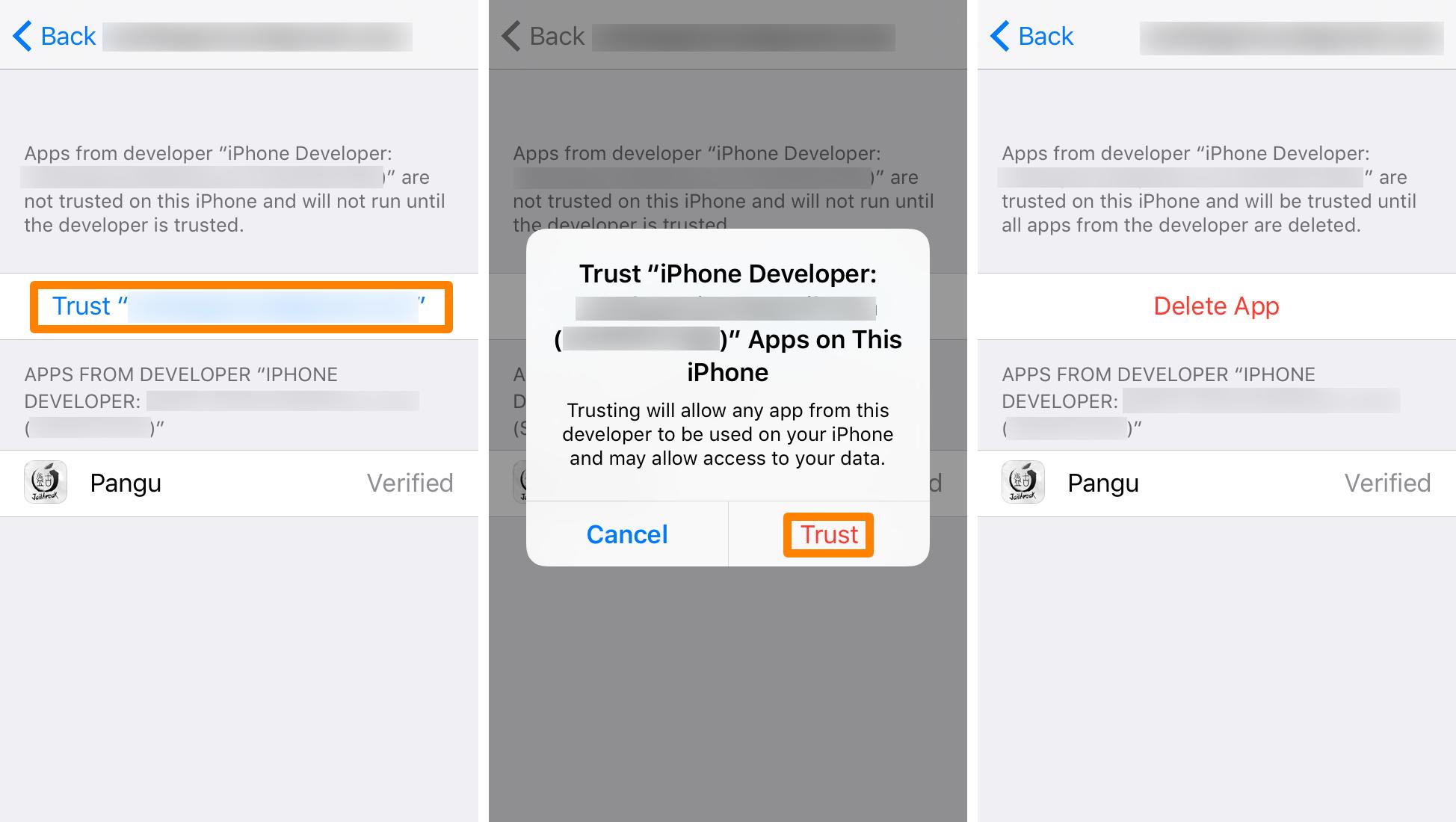 Trust Apple ID Pangu 2
