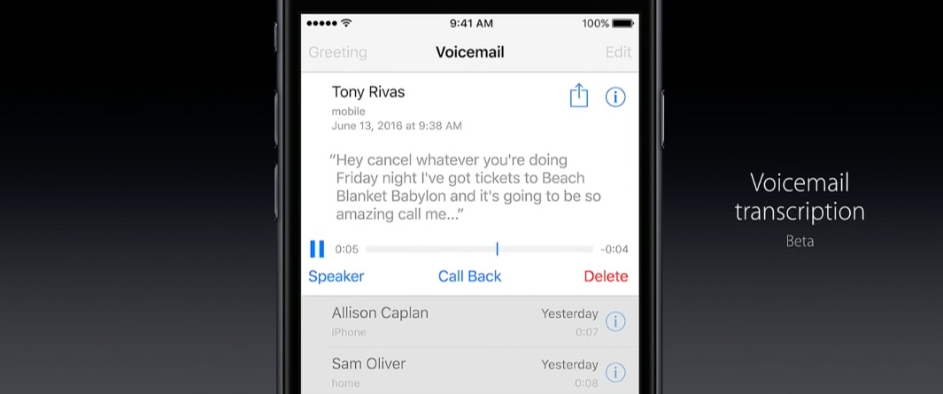 WWDC 2016 slides Phone voicemail transcription 003