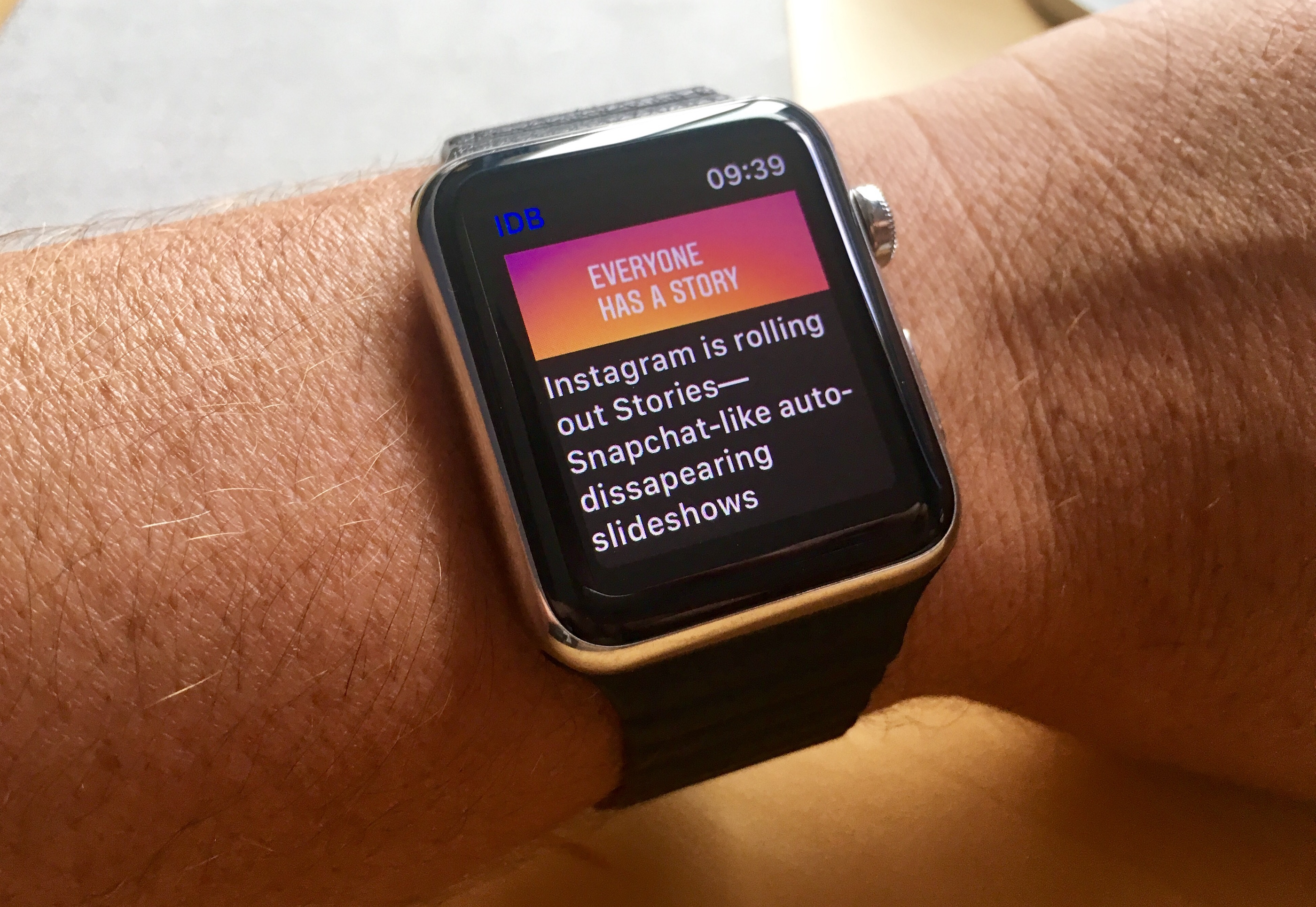 iDB app on apple watch