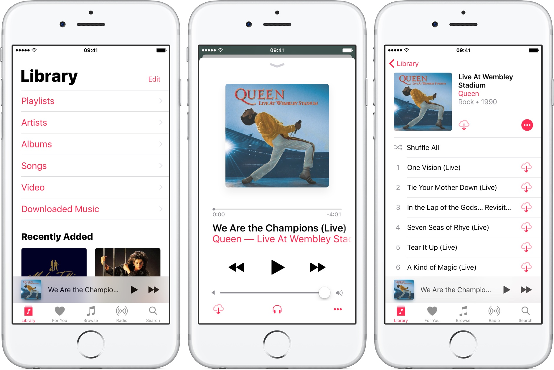 iOS 10 Music tap song for album view silver iPhone screenshot 001