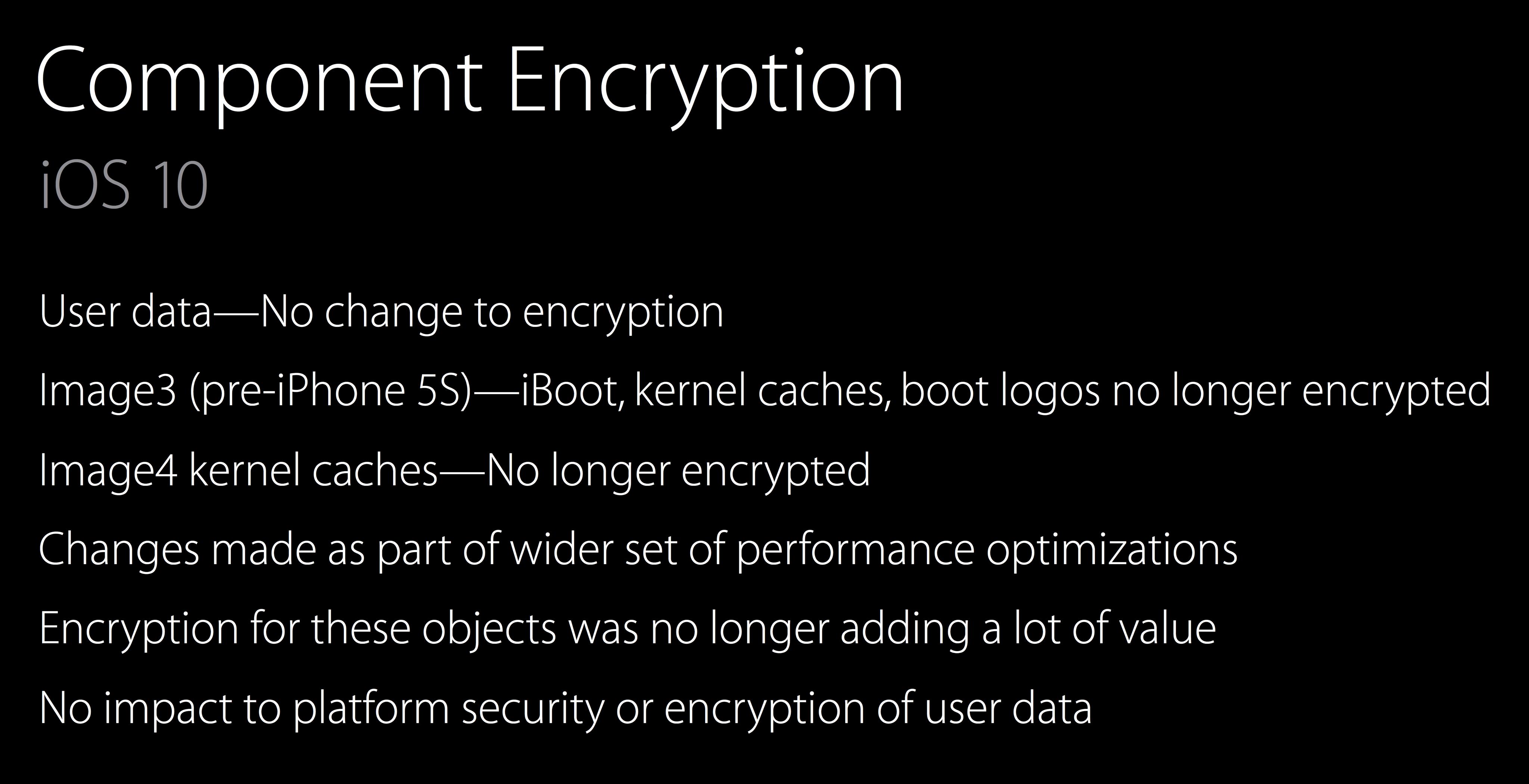 iOS 10 unencrypted kernel Ivan Krstic slide 002