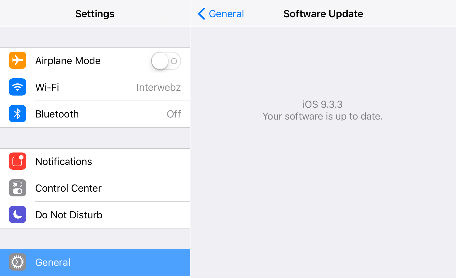 iOS 933 up to date