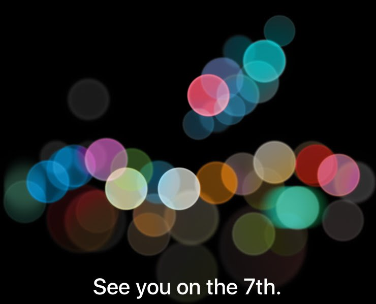 iPhone 7 september 7 media invite