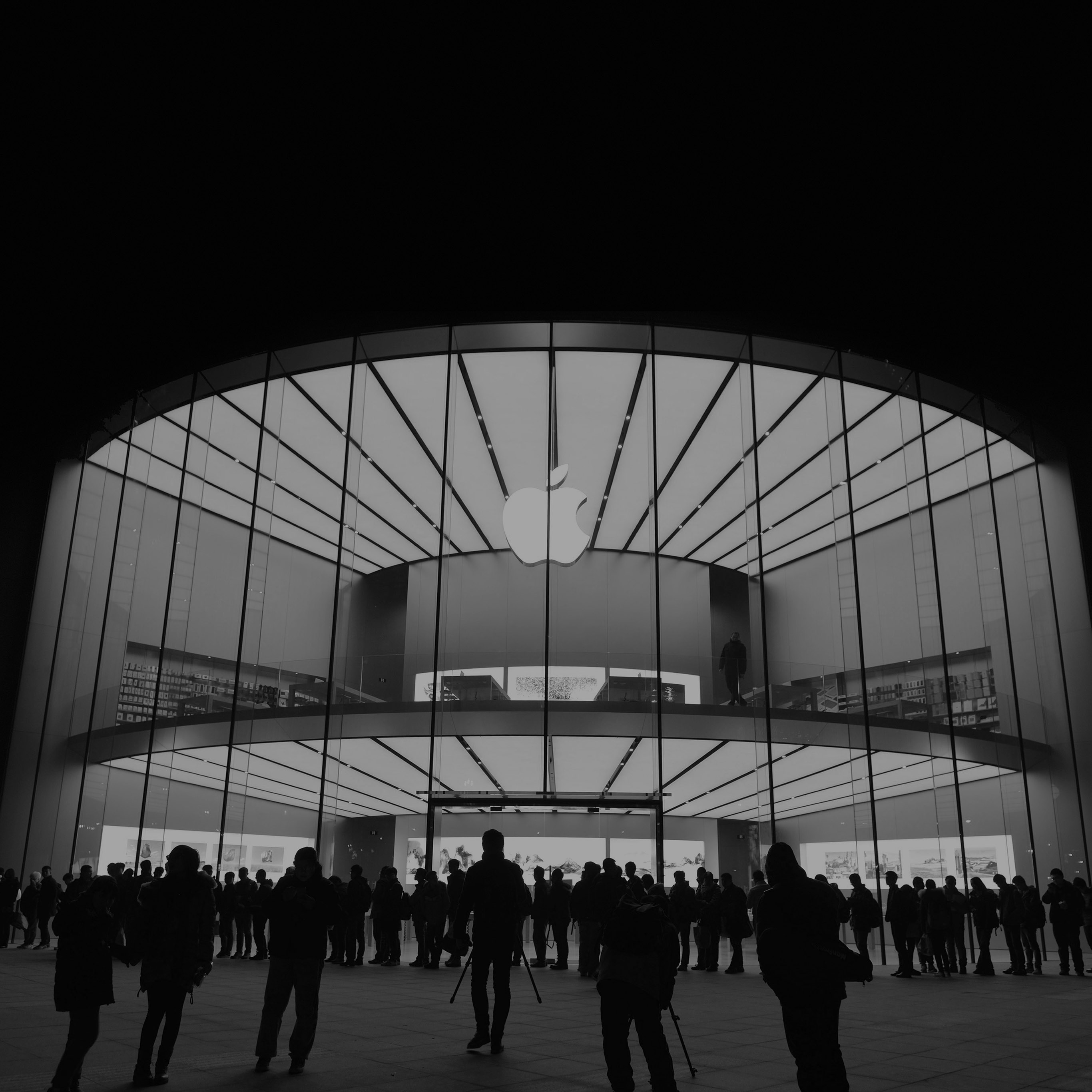 papers.co-aq20-photo-apple-store-event-city-architecture-dark-bw-40-wallpaper