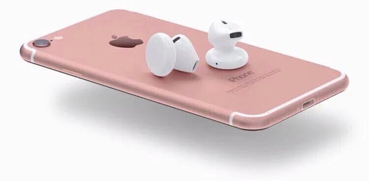 Ecouteur Rose Iphone