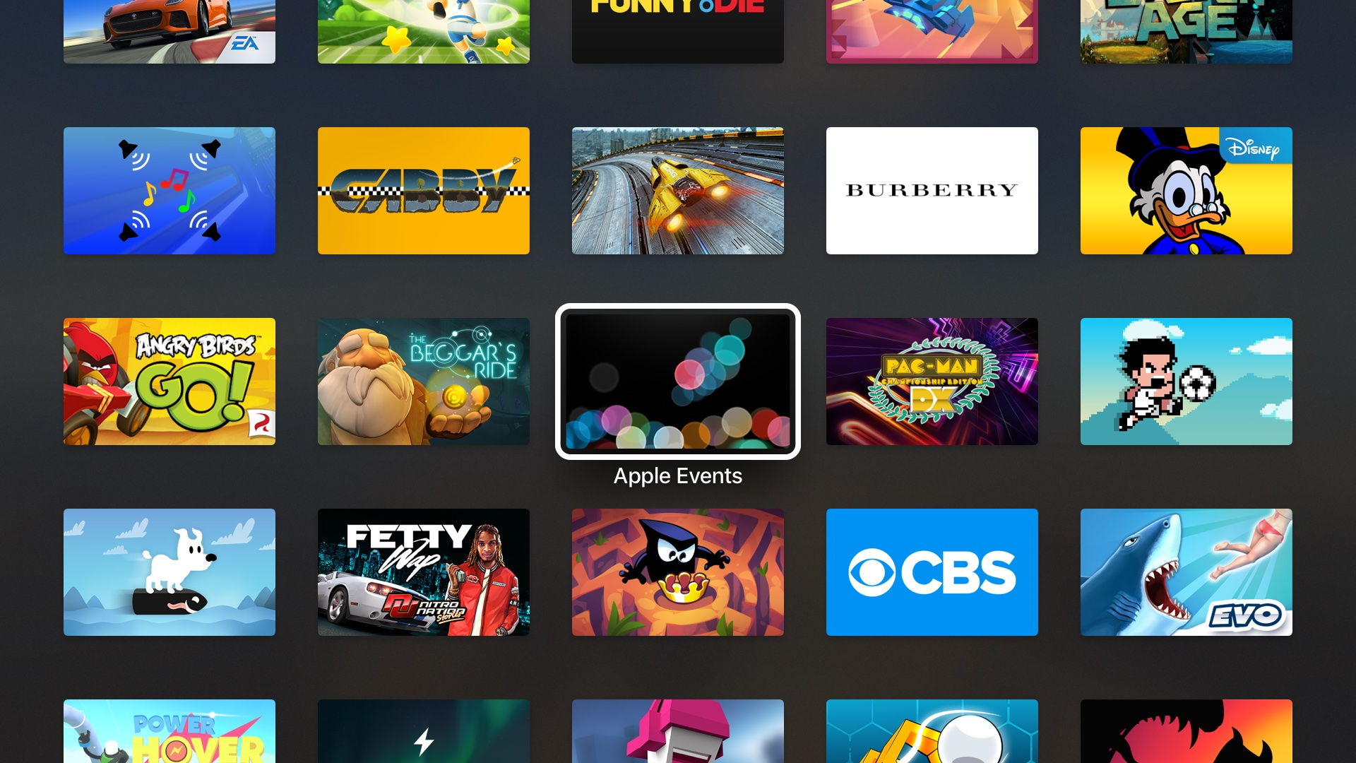 Apple Events app iPHone 7 keynote tvOS screenshot 001