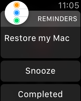 Reminders app on Apple Watch - notification