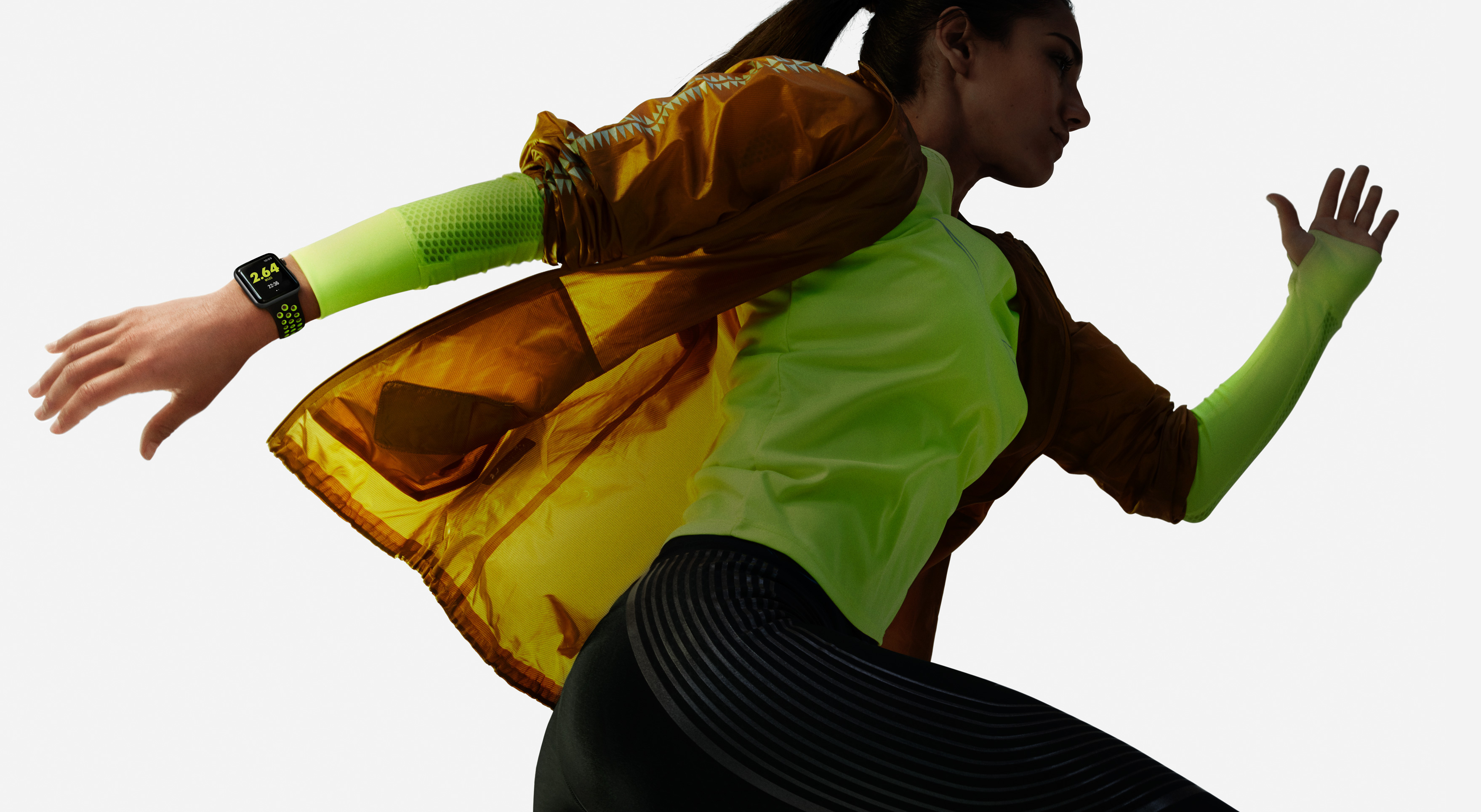 Apple Watch nike plus running woman