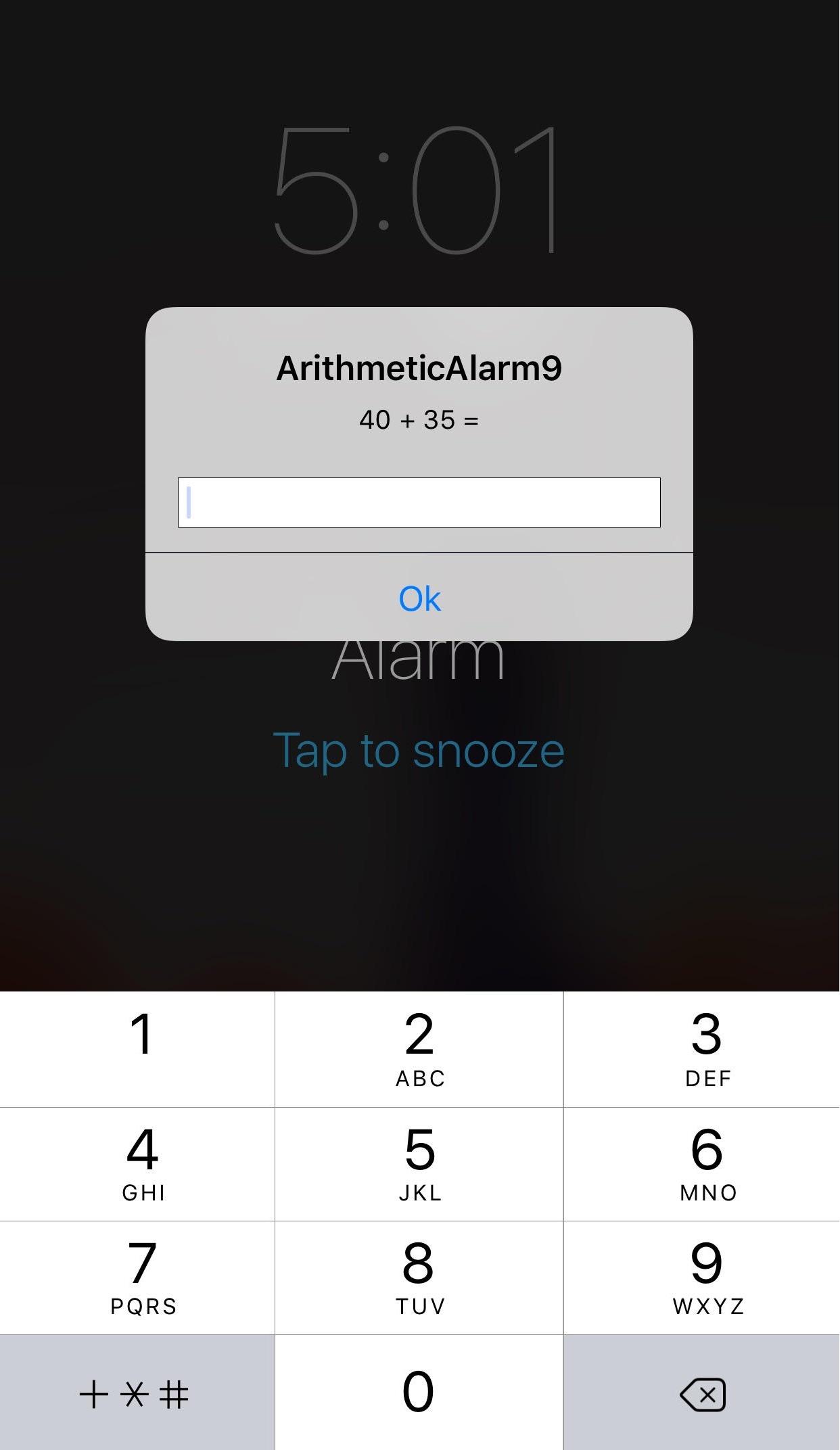 ArithmeticAlarm9 Lock Screen Math