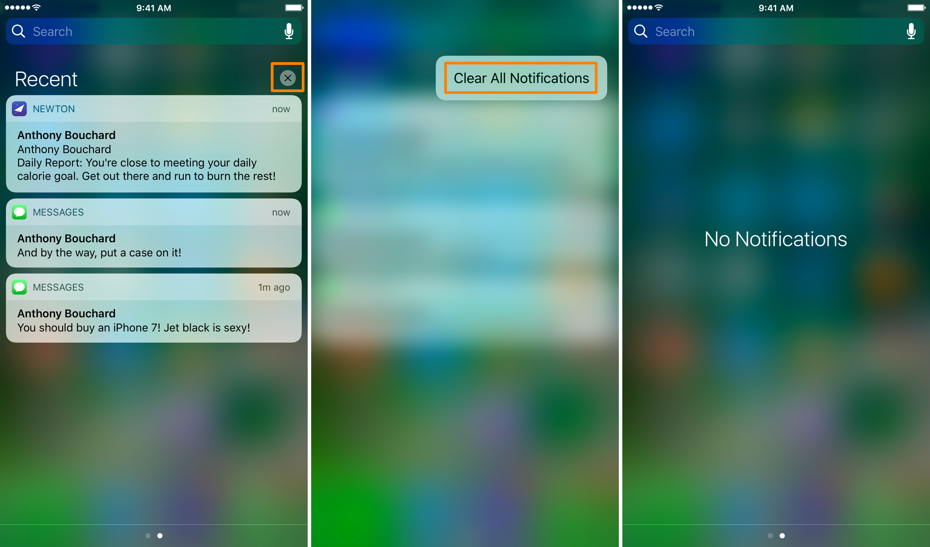Clear All Notification Center Notifications At Once With 3D Touch