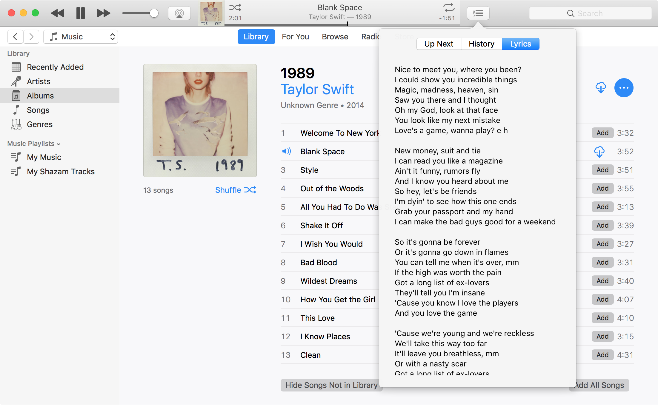 how to see lyrics on apple music itunes