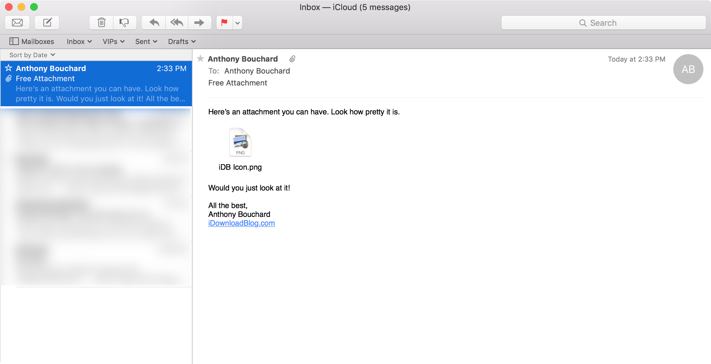 How to show email attachments as icons in the Mail app on Mac